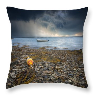 Storm Rolls In Throw Pillow