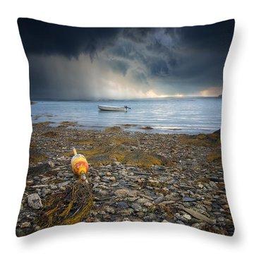 Storm Rolls In Throw Pillow