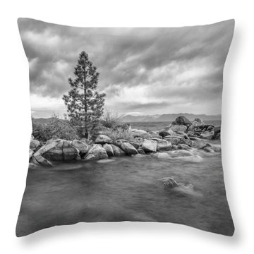 Storm Runs Through Throw Pillow