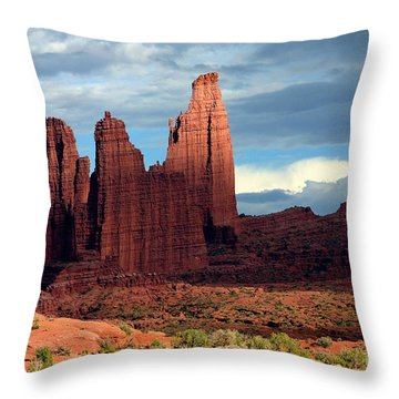 Storm Shadows Throw Pillow by Bob Hislop