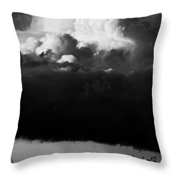 Throw Pillow featuring the photograph Stormclouds Approaching by Craig B