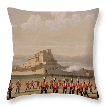 Storming Of Khelat, The Advance Throw Pillow