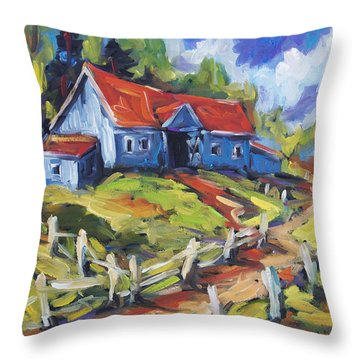 Storms A Brewin By Prankearts Throw Pillow by Richard T Pranke