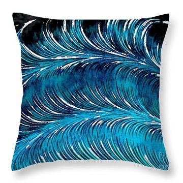 Storms At Sea Throw Pillow
