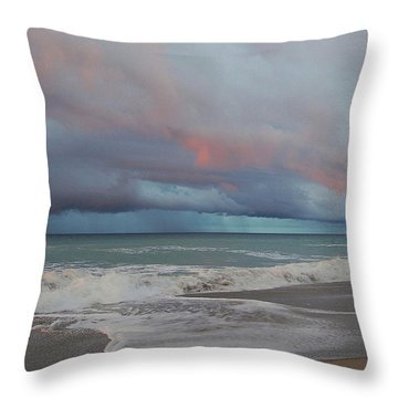 Throw Pillow featuring the painting Storms Comin' by Mim White