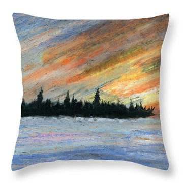 Storms Gone Throw Pillow by R Kyllo