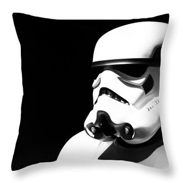 Stormtrooper Throw Pillow by Chris Thomas