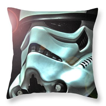 Stormtrooper Helmet 27 Throw Pillow by Micah May