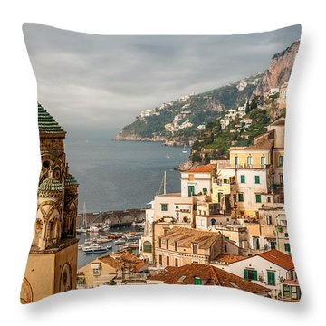 Stormy Amalfi Throw Pillow