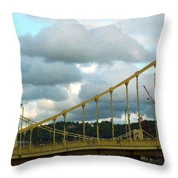 Stormy Bridge Throw Pillow by Frank Romeo