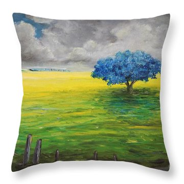 Stormy Clouds Throw Pillow by Alicia Maury