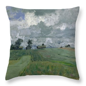 Stormy Day Throw Pillow by Isaak Ilyich Levitan