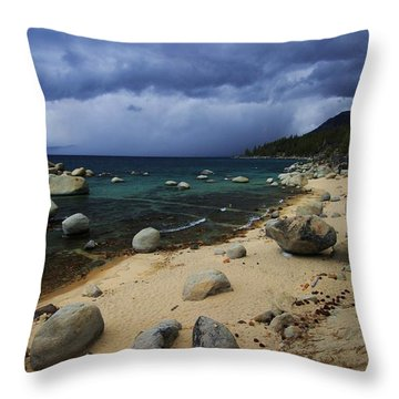 Throw Pillow featuring the photograph Stormy Days  by Sean Sarsfield