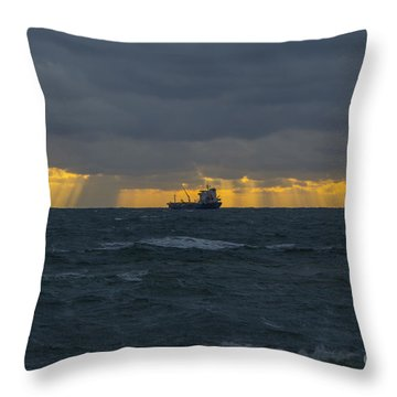 Stormy Falmouth Throw Pillow