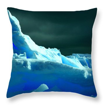 Throw Pillow featuring the photograph Stormy Icebergs by Amanda Stadther