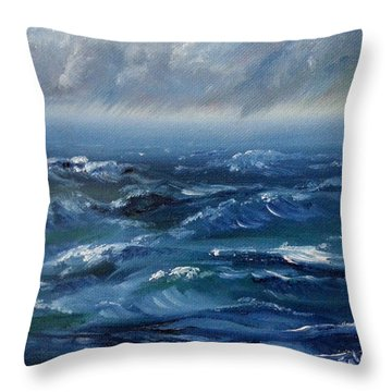 Stormy Monday Throw Pillow