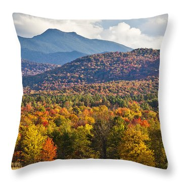Stormy Mount Mansfield Throw Pillow