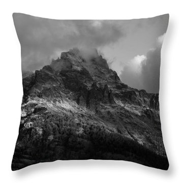 Stormy Peaks Throw Pillow