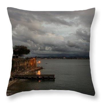 Throw Pillow featuring the photograph Stormy Puerto Rico  by Georgia Mizuleva