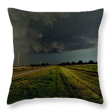 Stormy Road Ahead Throw Pillow