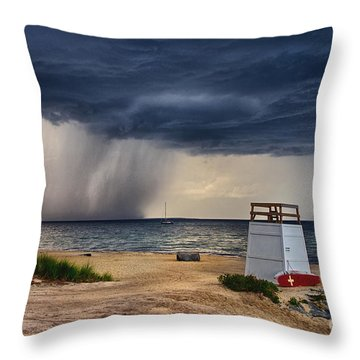 Stormy Seashore Throw Pillow