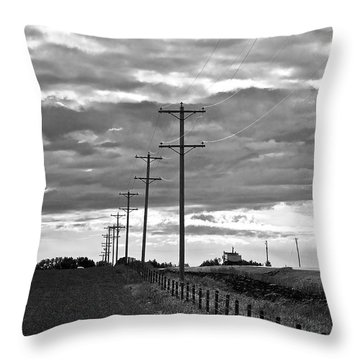 Stormy Skies Throw Pillow by Lisa Knechtel