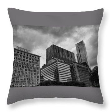 Throw Pillow featuring the photograph Stormy Skies by Miguel Winterpacht