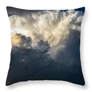 Stormy Stew Throw Pillow