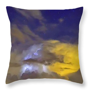 Throw Pillow featuring the photograph Stormy Stormy Night by Charlotte Schafer