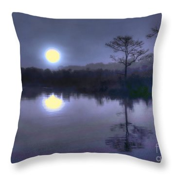 Throw Pillow featuring the photograph Stormy Sunrise by Myrna Bradshaw