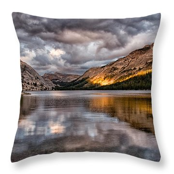 Stormy Sunset At Tenaya Throw Pillow