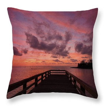 Stormy Sunset Throw Pillow by Beverly Stapleton