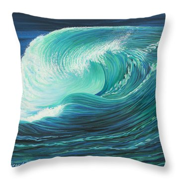 Stormy Wave Throw Pillow