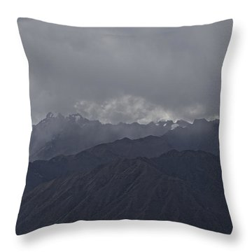 Storm Over The Andes Throw Pillow