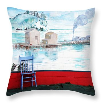 Story Corner Throw Pillow by Pamela Patch