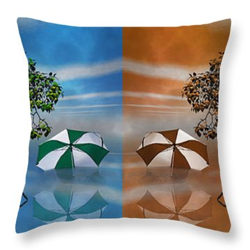 Story Throw Pillow by Betsy Knapp