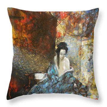Story In The Chambers Throw Pillow