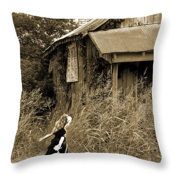 Story Of A Girl - Rural Life Throw Pillow