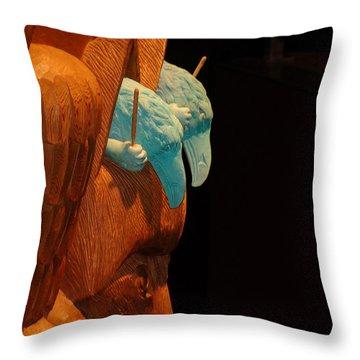 Story Pole Throw Pillow by Cheryl Hoyle