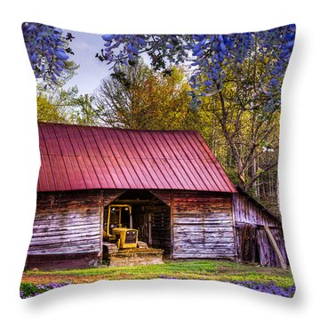Storybook Farms Throw Pillow by Debra and Dave Vanderlaan