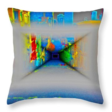 Comic Book Alley Throw Pillow