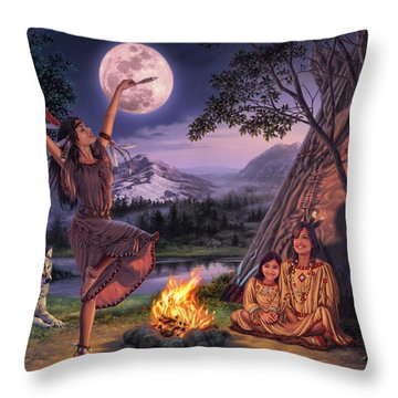 Storytelling Throw Pillow by Steve Read