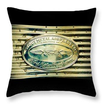 Stout Metal Airplane Co. Emblem Throw Pillow