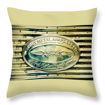Stout Metal Airplane Co. Emblem Throw Pillow