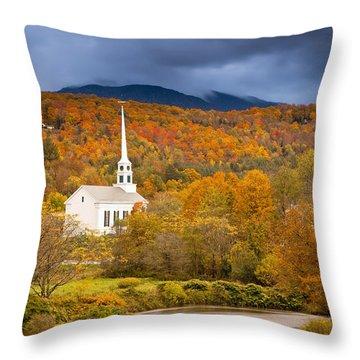 Stowe Church Throw Pillow by Brian Jannsen