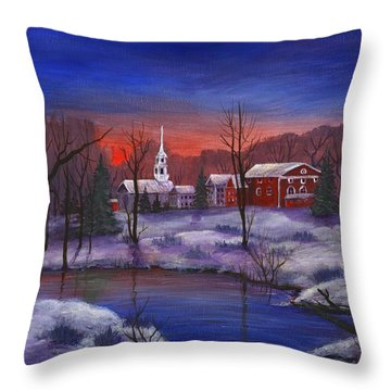 Stowe - Vermont Throw Pillow by Anastasiya Malakhova