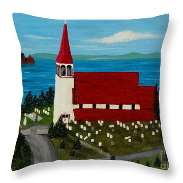 St.philip's Church 1999 Throw Pillow by Barbara Griffin