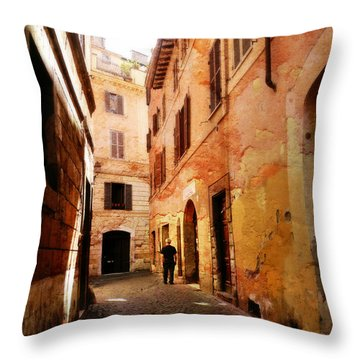 Strade Di Ciottoli Throw Pillow