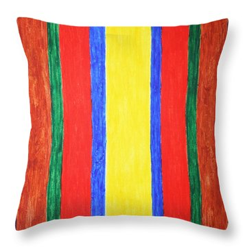 Throw Pillow featuring the painting Vertical Lines by Stormm Bradshaw