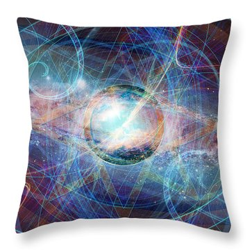 Throw Pillow featuring the digital art Straight On Til Morning by Kenneth Armand Johnson